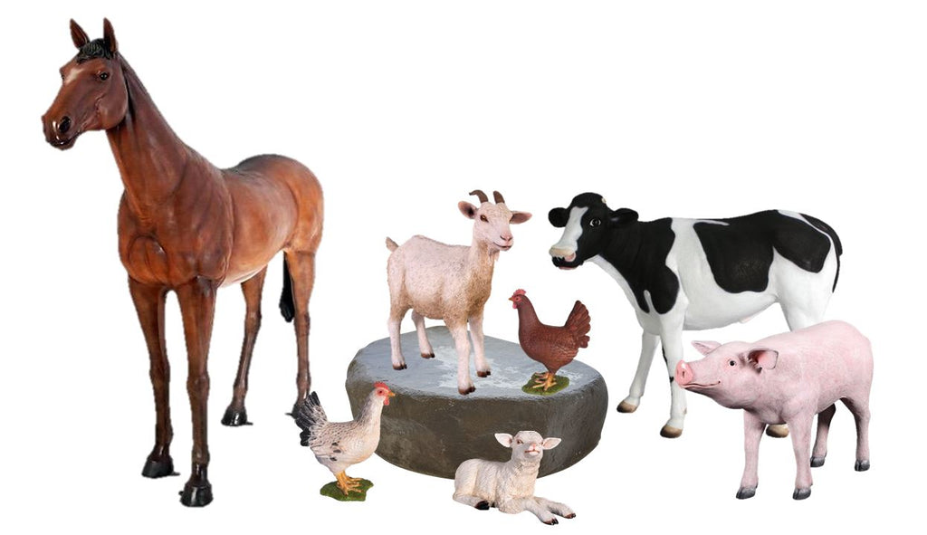 Farm Package Life Size Resin Statues - LM Treasures Prop Rentals