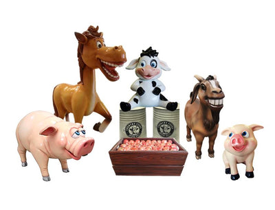Farm Comic Package Life Size Resin Statues - LM Treasures Prop Rentals