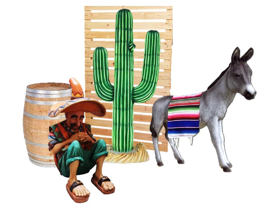 Fiesta Package Life Size Resin Statues - LM Treasures Prop Rentals