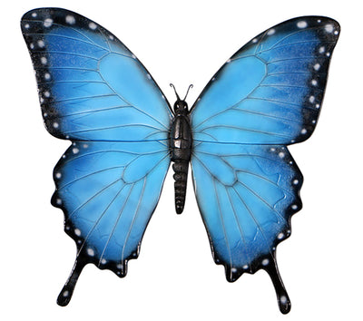 Blue Butterfly Insect Over Sized Statue
