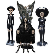 Halloween Skeleton Package Life Size Resin Statues - LM Prop Rentals