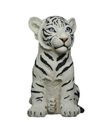 Tiger Siberian Table Top Safari Prop Decor Resin Statue - LM Treasures Prop Rentals