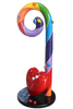 Candy Cane Rainbow With Heart Prop Display Resin Statue - LM Prop Rentals