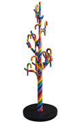 Candy Cane Tree Rainbow Prop Display Resin Statue - LM Treasures Prop Rentals