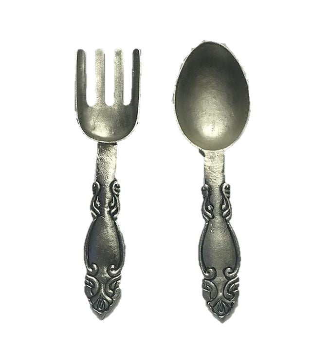 Utensils Metal Spoon and Fork Set Food Prop Decor - LM Treasures Prop Rentals