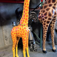 "Giraffe Baby ""Glenmorangie"" Safari Prop Resin Decor Statue - LM Treasures Prop Rentals"
