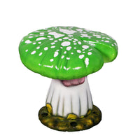 Green Single Split Mushroom Stool Over Sized Statue