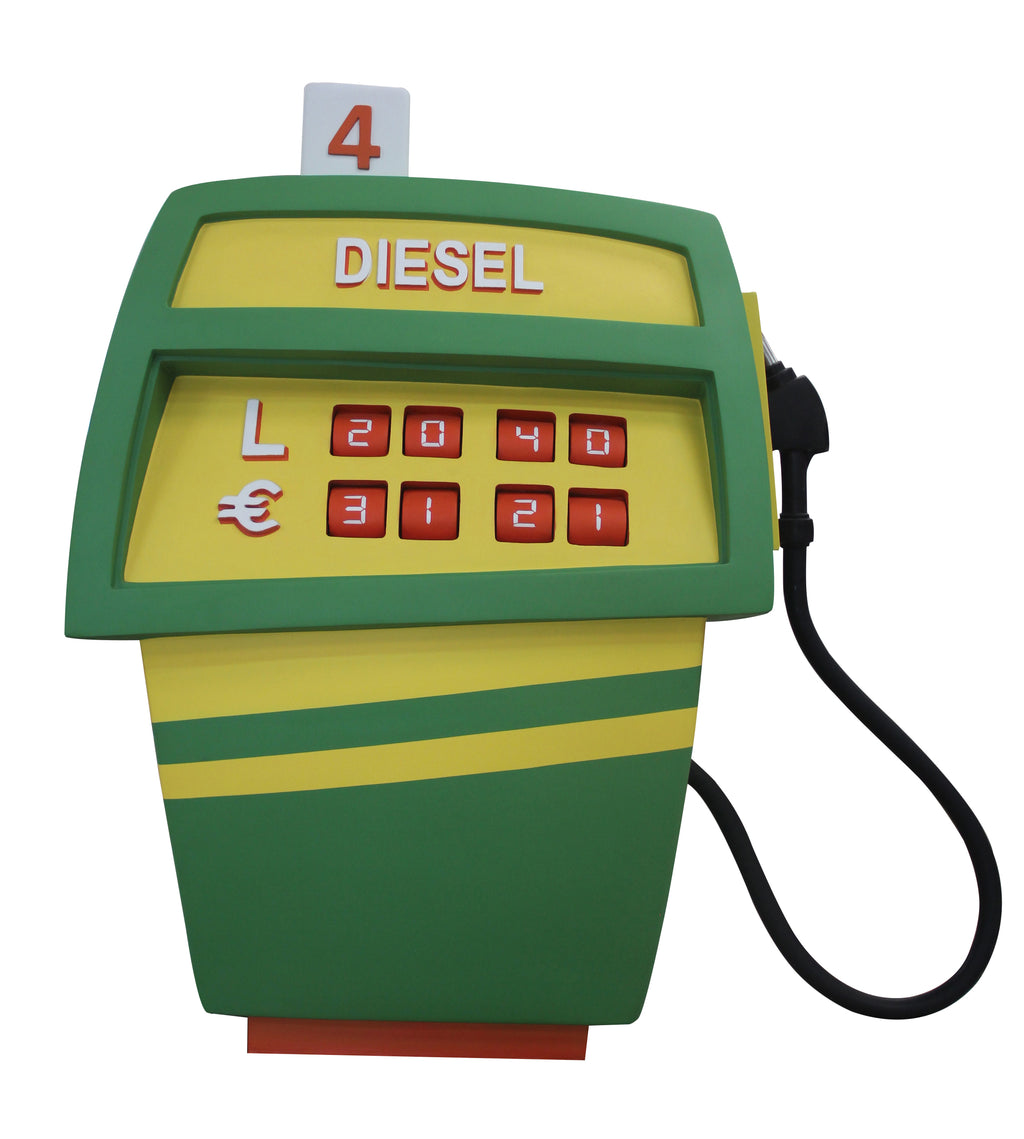 Gas Pump Green Life Size Statue
