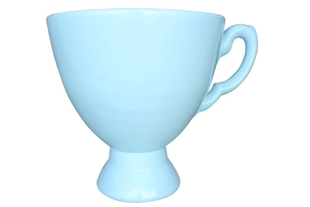 Blue Tea Cup Over Sized Statue