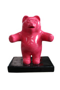 Small Red Gummy Bear Over Sized Statue