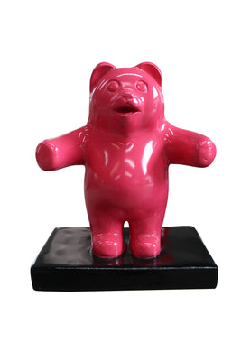 Candy Gummy Bear 1 ft Pink Over Sized Statue