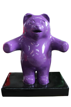 Small Purple Gummy Bear Over Sized Statue