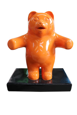 Small Orange Gummy Bear Over Sized Statue