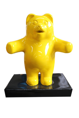 Small Yellow Gummy Bear Over Sized Statue