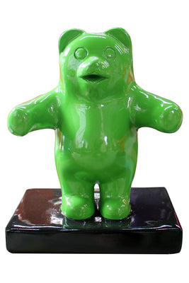 Small Green Gummy Bear Over Sized Statue