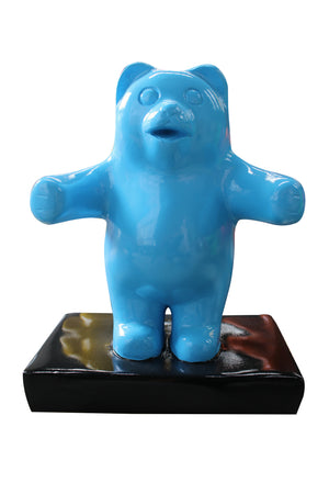 Small Blue Gummy Bear Over Sized Statue