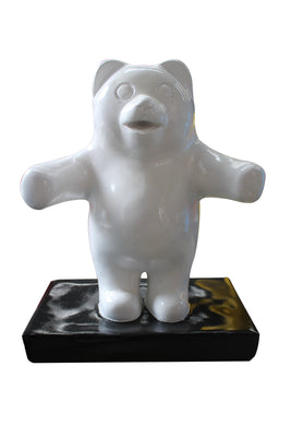 Candy Gummy Bear 1 ft White Over Sized Statue