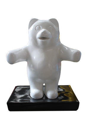 Small White Gummy Bear Over Sized Statue