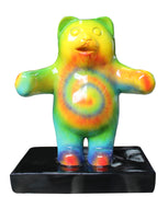 Small Rainbow Gummy Bear Over Sized Statue
