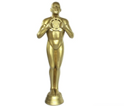 Hollywood Prop Trophy 3ft Gold Movie Decor Resin Statue - LM Treasures Prop Rentals