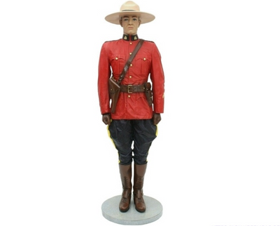 Canadian Policeman Life Size Movie Prop Decor Statue - LM Treasures Prop Rentals
