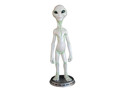 Alien On Base Space Statue Prop Decor Life Size Resin - LM Treasures Prop Rentals