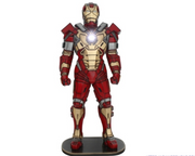 Super Hero Metal Man Life Size Prop Decor Statue - LM Treasures Prop Rentals