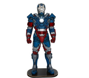Super Hero Metal Man Patriot Life Size Prop Decor Statue - LM Treasures Prop Rentals