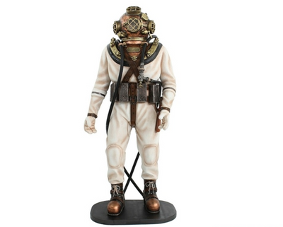 Deep Sea Diver Life Size Movie Prop Decor Statue - LM Prop Rentals