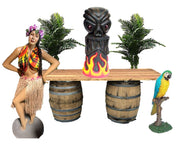Luau Hawaiian Beach Package Life Size Resin Statues - LM Treasures Prop Rentals
