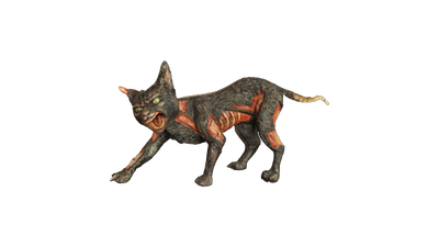 Cursed Cat Life Size Mythical Prop Decor Resin Statue - LM Treasures Prop Rentals