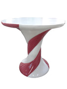 Marshmallow Table Red/White Over Sized Display Resin Prop Decor Statue - LM Treasures Prop Rentals