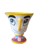 Tea Cup With Face Over Sized Statue