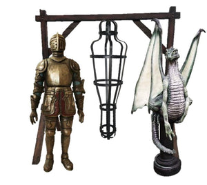 Medieval Knight Package Life Size Resin Statues - LM Treasures Prop Rentals