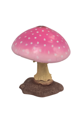 Pink Small Mushroom Over Sized Statue