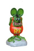 Green Rat Over Sizes Statue