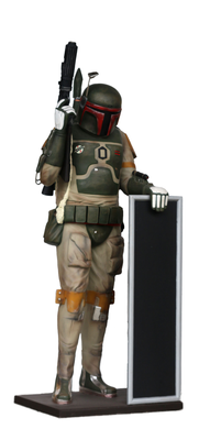 Galactic Space Hunter Menu Board Life Size Statue