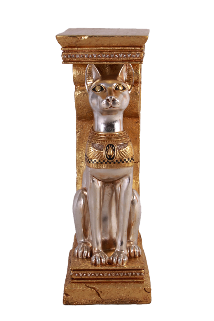Egyptian Bastet Cat Pillar Life Size Statue
