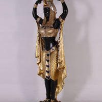 Egyptian Plant Holder Female Life Size Statue