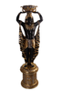 Egyptian Plant Holder Male On Base Life Size Statue