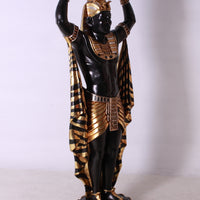 Egyptian Plant Holder Male Life Size Statue