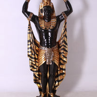 Egyptian Plant Holder Male Life Size Prop Decor Resin Statue