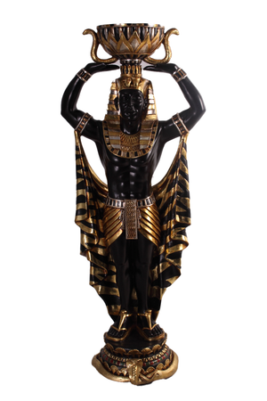 Small Male Egyptian Plant Holder Life Size Statue