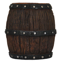 Barrel Wood Resin Pirate Prop Decor Statue - LM Treasures Prop Rentals