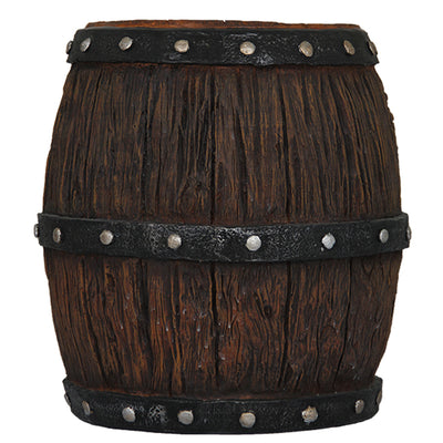Barrel Wood Resin Pirate Prop Decor Statue - LM Prop Rentals