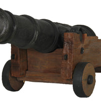 Cannon With Base Life Size Pirate Decor Prop Statue - LM Treasures Prop Rentals