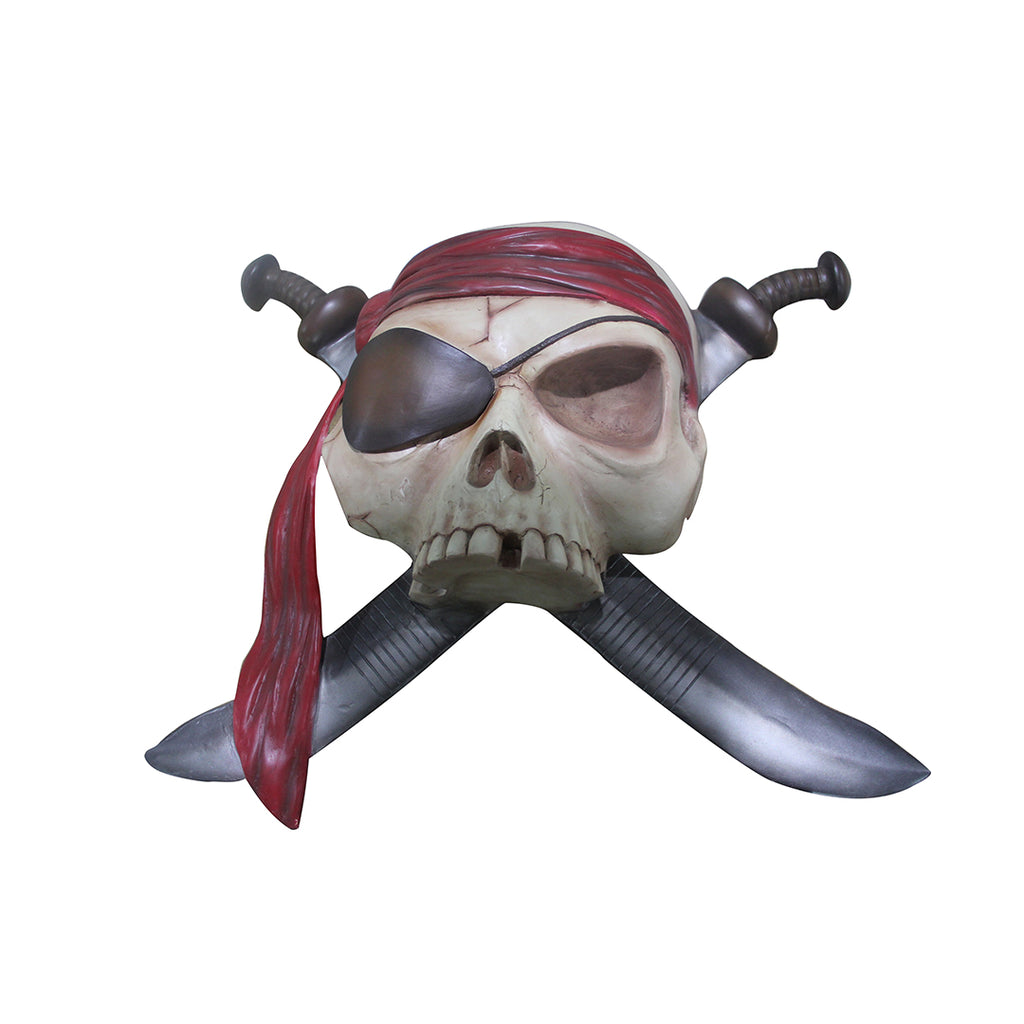 Pirate Skeleton With Swords Wall Decor Life Size Statue Resin Decor