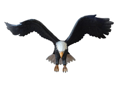 Bird Eagle Flying Wings Up American Bald Animal Prop Life Size Resin Statue - LM Treasures Prop Rentals