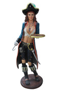Pirate Lady Butler Anne 4 ft Statue Life Size Statue - LM Treasures Prop Rentals