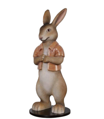 Rabbit Rob With Short Jacket Display Resin Easter Prop Decor Statue - LM Treasures Prop Rentals